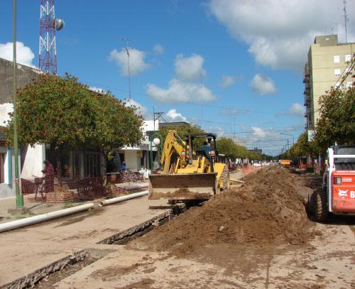 Calle 9 de Julio al 500 - Excavaciones